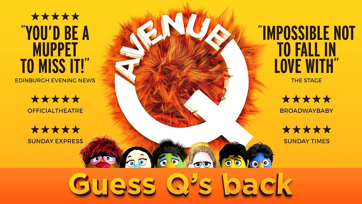 Image result for avenue q uk tour 2019 poster