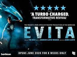 evita at the barbican