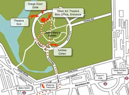 Open Air Theatre Regents Park whats on and how to get to the