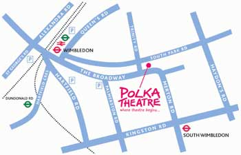location map of Polka Children's Theatre