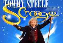 Tommy Steele in the tour of Scrooge the Musical